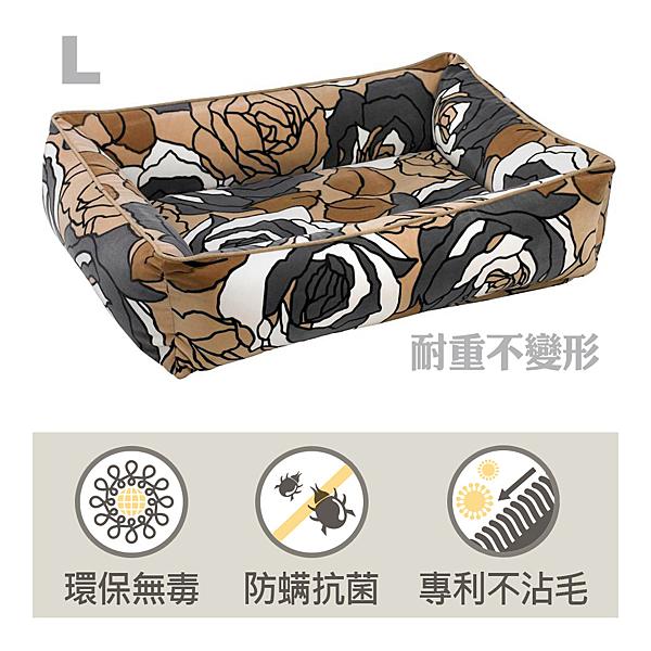 Bowsers都會極適寵物方床-混彩花-L