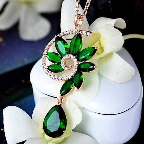 時尚百搭 水晶 樓蘭之戀項鏈