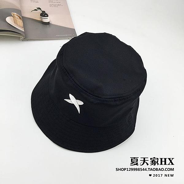 [超豐國際]日系原宿個性刺繡字母漁夫帽子潮男女通用復古百搭可1入