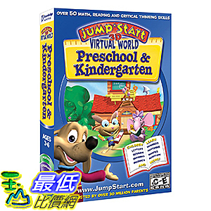 [106美國暢銷兒童軟體] Jumpstart 3D Preschool & Kindergarten