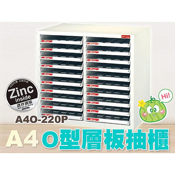 樹德 O型開放式資料櫃20抽 A4O-220P (檔案櫃/文件櫃/公文櫃/收納櫃/效率櫃)