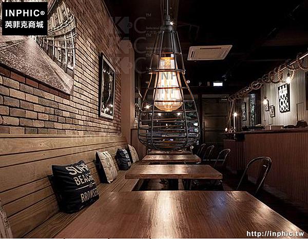 INPHIC- 燈泡吊燈鐵藝小鐵籠吊燈鳥籠吊燈服裝店吊燈咖啡吊燈_S197C