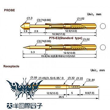 ◤大洋國際電子◢ 探針 PL75套管 RL75-4S (20PCS/包) IC板測試 電機 電工