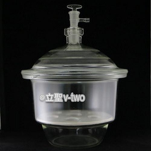 真空乾燥器24cm〔附玻璃活栓/磁板〕硫酸乾燥器 真空乾燥皿