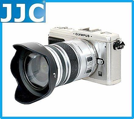 又敗家@JJC副廠奧林巴斯黑色MZD 12-50mm 1:3.5-6.3 EZ ED太陽罩M.ZD f/3.5-消光紋可反扣同原廠LH-55C