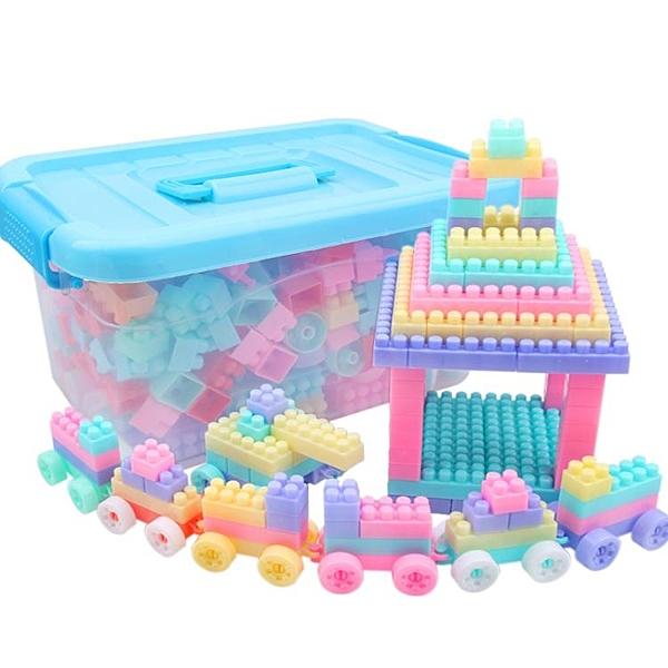 兒童積木塑料玩具3-6周歲益智男孩1-2歲女孩寶寶拼裝拼插7-8-10歲