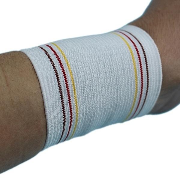 護腕 鬆緊帶護腕 運動護腕 鐵人牌(白色)/一小包2個入(定30)-光