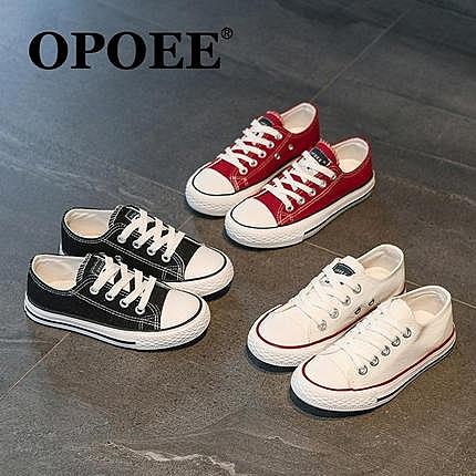兒童帆布鞋球鞋親子鞋男童鞋子女童寶寶幼兒園白色布鞋小白鞋板鞋