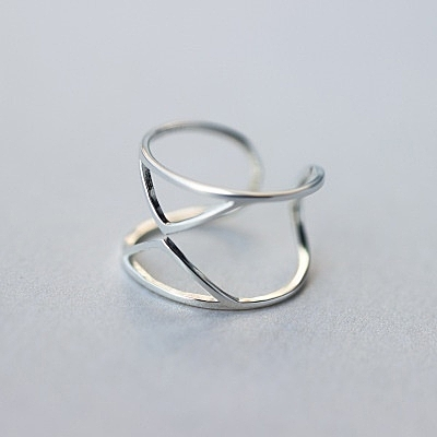 戒指 925純銀-簡單亮麗生日情人節禮物女開口戒73dt371[時尚巴黎]