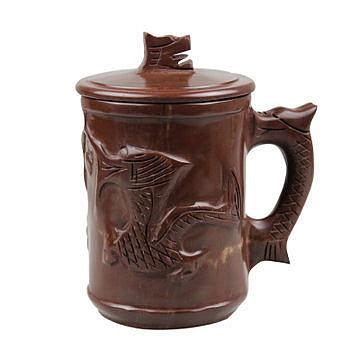 木魚石  龍杯