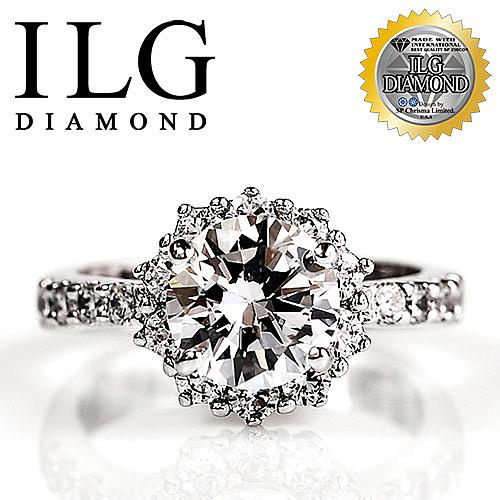 【ILG鑽】頂級八心八箭鑽石戒指-經典四爪款 主鑽2克拉 極致耀眼氣勢十足 求婚豪門款 RI034