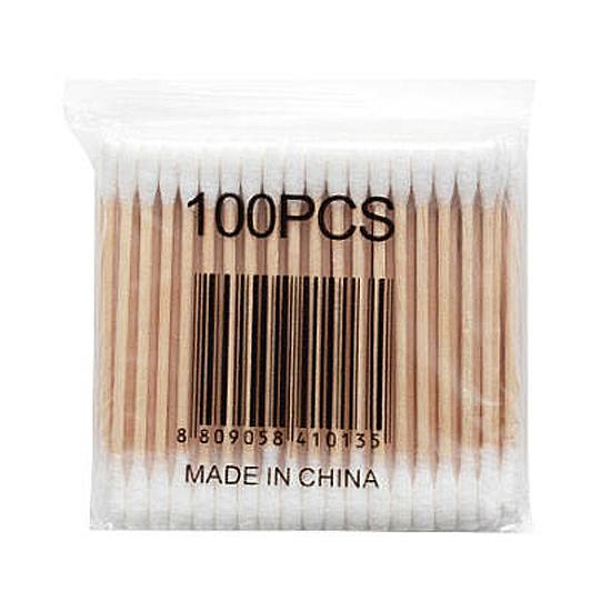 棉花棒 棉籤棒 隨身包 棉花木棒 100支 棉棒 一次性 化妝棉棒 清潔 雙頭棉花棒【G059】慢思行