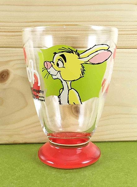 【震撼精品百貨】Winnie the Pooh 小熊維尼~玻璃杯-紅兔子