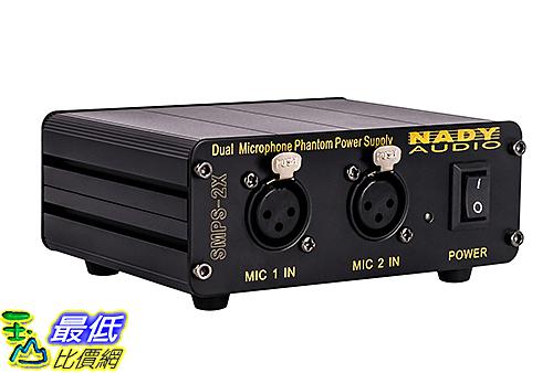 [107美國直購] 48V 電容式麥克風適用 Nady SMPS-2X 2-Channel 48V Phantom Power Supply for Condenser Microphones