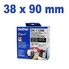 brother DK定型標籤帶 DK-11208(38×90mm)適用:QL-570/QL-700/QL-720NW/QL-650TD/QL-1060N