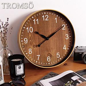 TROMSO紐約時代靜音時鐘典藏胡桃木