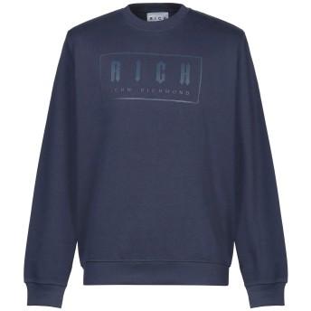 《セール開催中》JOHN RICHMOND メンズ スウェットシャツ ダークブルー M コットン 100%