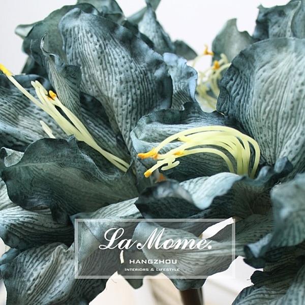[協貿國際]秋色君子蘭淺藍色多色漸變高檔外貿仿真花絹花樣板房歐式