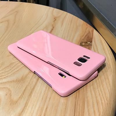 三星 S8/S9 Plus 少女櫻花粉手機殼SamSung S8/S9 簡約純色手機套 note8/9 可愛仙女款保護套