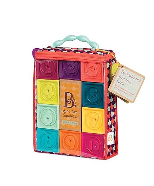 【美國B.Toys感統玩具】123捏捏樂(芽綠) BX1481Z