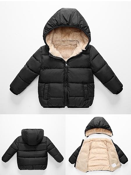 兒童羊羔絨棉衣男童羽絨棉服女童棉襖寶寶加厚童裝外套