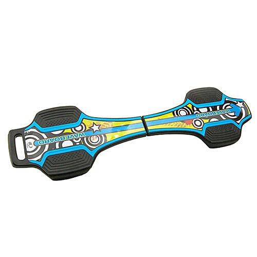 LIKA夢 韓國LANDWAY 發光輪活力蛇板 蛇行滑板 BL 藍黃(贈背帶)