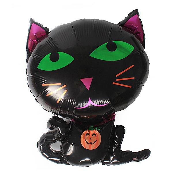【BlueCat】萬聖節無言黑猫鋁膜氣球 佈置