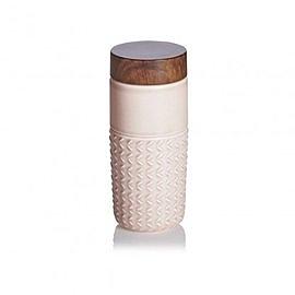 【收藏天地】乾唐軒活瓷系列*ONE O ONE隨身杯(自在遨遊) 復古玫瑰粉 / 木紋蓋款 ∕ 碧璽