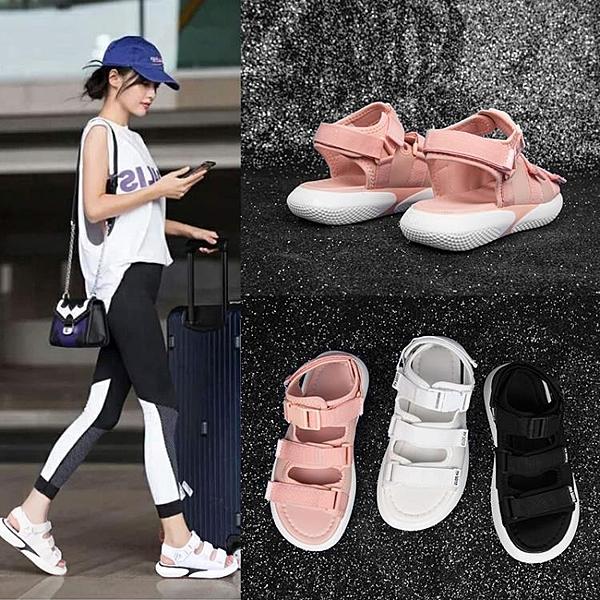 涼鞋 涼鞋夏季新款新款仙女風百搭超火平底ins網紅時尚運動女鞋學生潮