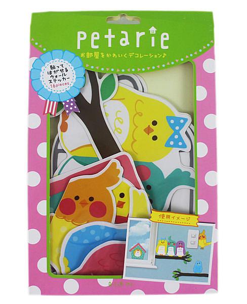 【卡漫城】日本 Q-LiA 小鳥 貼紙包 ㊣版 裝飾貼 行李箱貼紙 壁貼 創意貼 佈置貼紙~ 一組共16入
