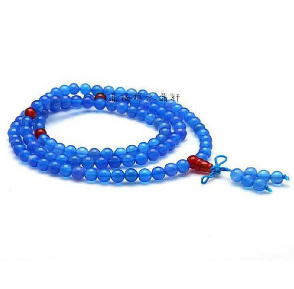 藍瑪瑙加紅瑪瑙多層手鏈108顆念珠