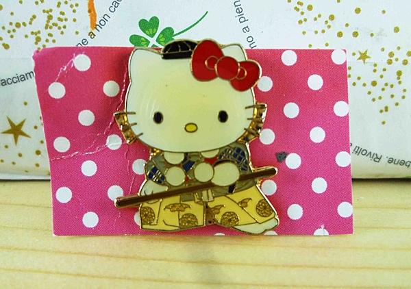 【震撼精品百貨】Hello Kitty 凱蒂貓~KITTY造型徽章-並慶拿棍