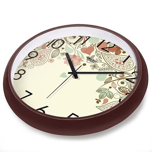 [超豐國際]時尚創意靜音掛鐘現代簡約時鐘數字鐘表藝術客廳石英1入