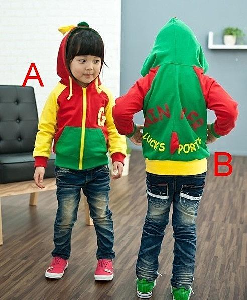 韓版《亮彩小雞款》連帽造型小外套