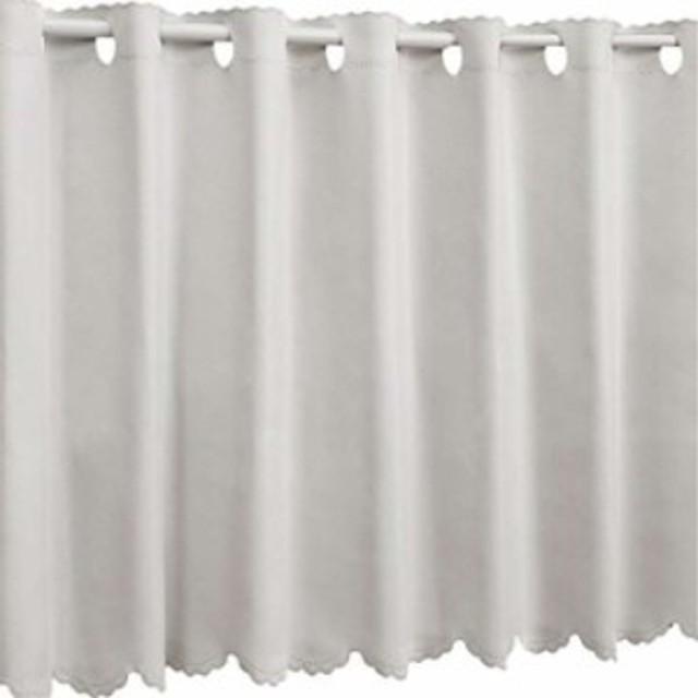1級遮光 防炎 カフェカーテン 幅110×丈60cm[912000425U499](08.グレー, 幅110×丈 60cm)