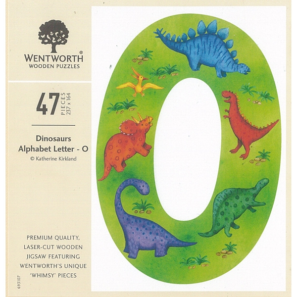 恐龍字母-O 英國 /47P/WENTWORTH/木質