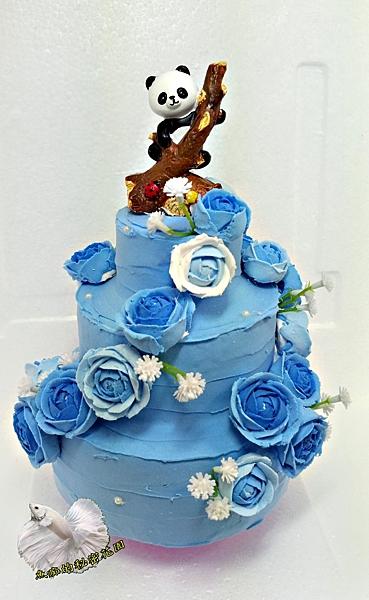 獨家手作 [3層婚禮蛋糕旋轉音樂鈴 給愛麗絲] (可參考影片檔) 婚禮禮物 結婚賀禮