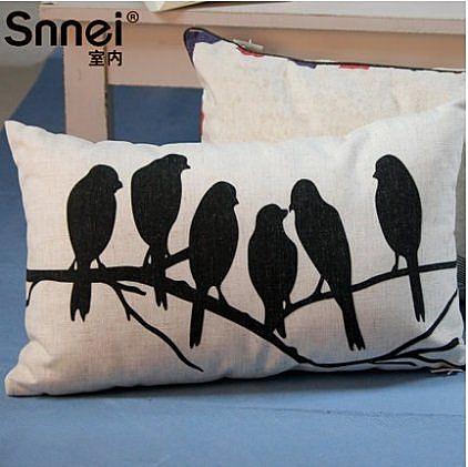 沙發動物圖案地中海布藝抱枕DP