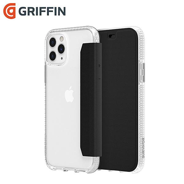 Griffin Survivor Clear Wallet iPhone 11 Pro(5.8吋)透明背套防摔側翻皮套