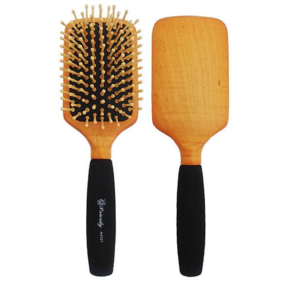 SALON 楓木大珠方型梳 A4327【娜娜香水美妝】梳子 美髮梳
