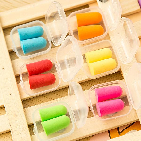 【03184】 彩色海綿隔音耳塞 袋裝 睡覺防噪 睡眠 打呼嚕