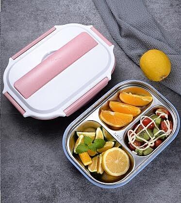 便當盒 304不銹鋼保溫飯盒 學生食堂分格便當盒 成人帶飯餐盒帶蓋韓國簡約