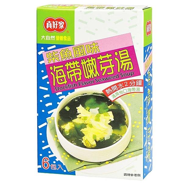 真好家海帶嫩芽湯-柴魚風味(6包入/盒)*1盒
