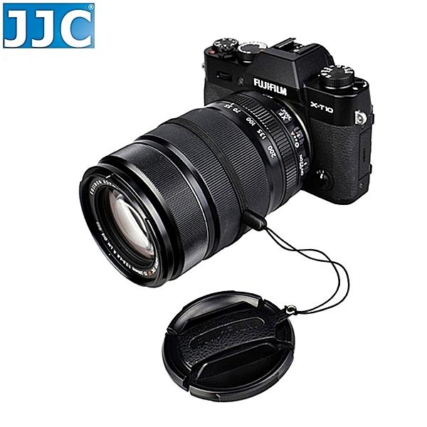 又敗家JJC真皮皮貼CS-F52鏡頭蓋防丟繩Fujifilm鏡頭蓋FLCP-52鏡頭蓋防掉繩52mm防失繩52mm鏡頭前蓋