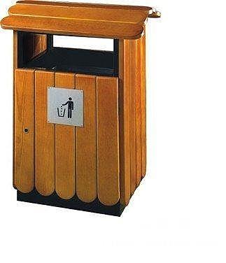 鋼木垃圾桶 戶外環保桶 公園道路分類收納
