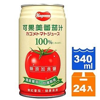 可果美無鹽蕃茄汁340ml(24入)/箱【康鄰超市】