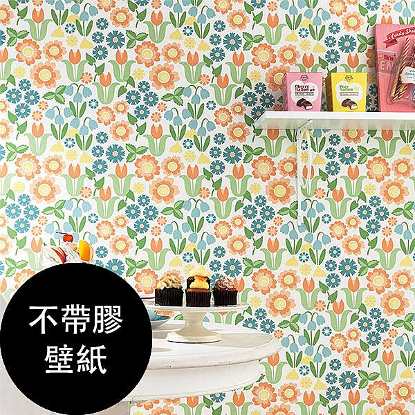 新科(SINCOL)【不帶膠壁紙- 單品5m起訂】插畫風 花草 花紋 牆紙 BB9847