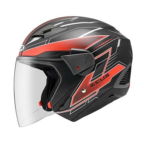 ZEUS 瑞獅 ZS-611E TT18 3/4罩安全帽 消光黑 紅