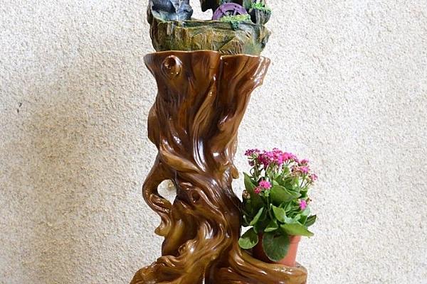 [超豐國際]仿古裝飾樹脂根雕底坐 佛像擺件噴泉魚缸底坐