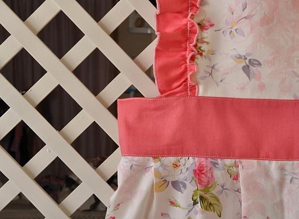 [超豐國際]棉布藝 廚房圍裙 工作服圍裙 服務員圍裙 超市圍